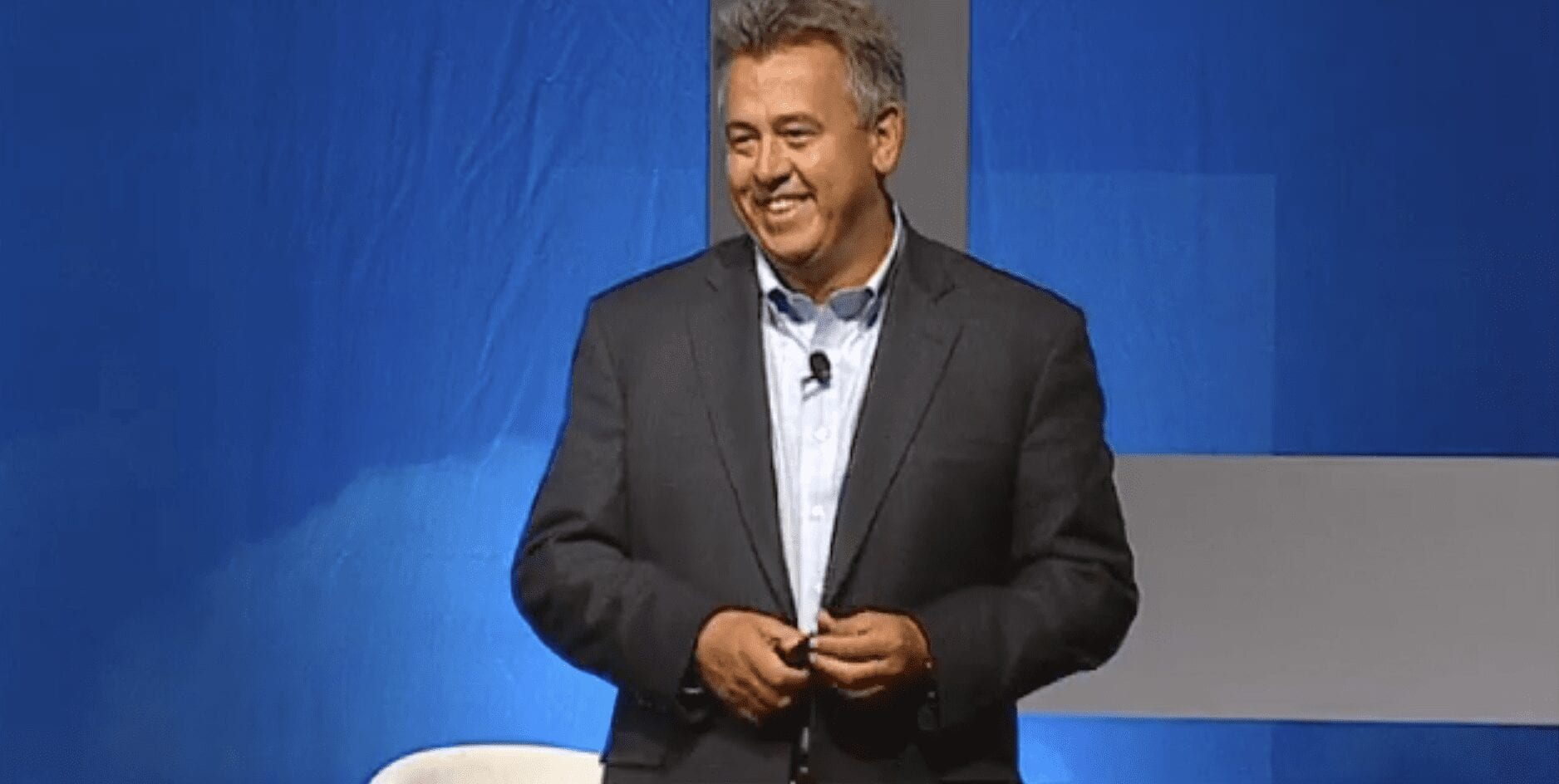 Image of Mark Sievewright at a speaking engagement