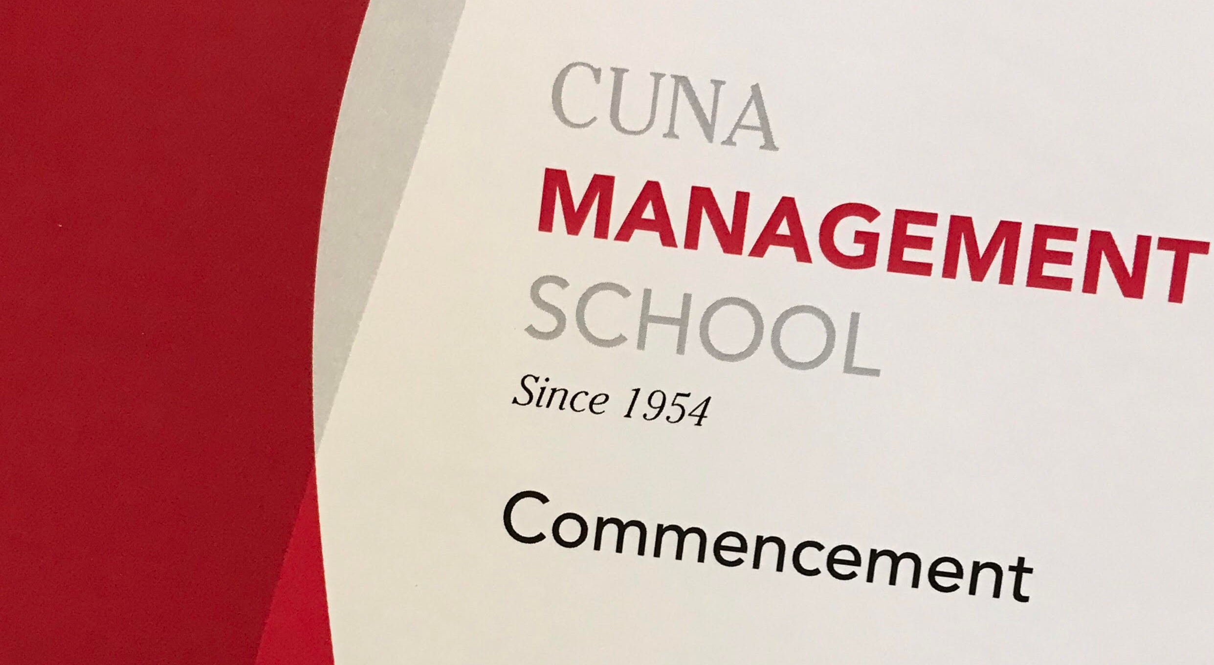 CUNA Management School Commencement program
