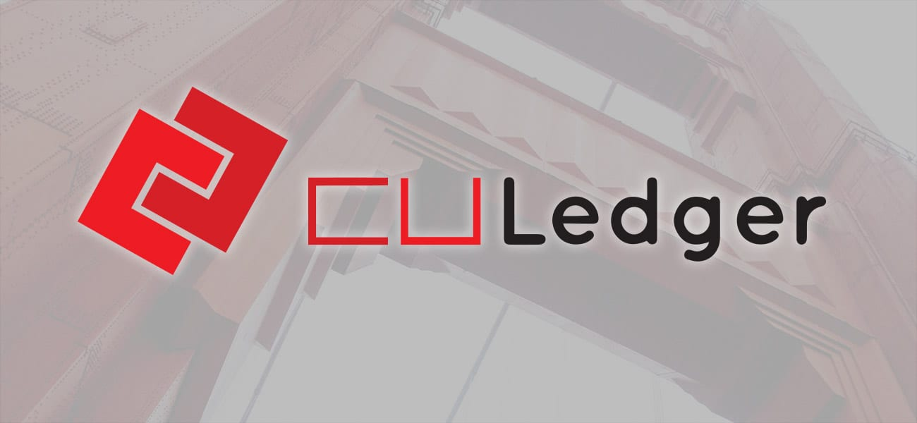 CU Ledger logo on abstract background