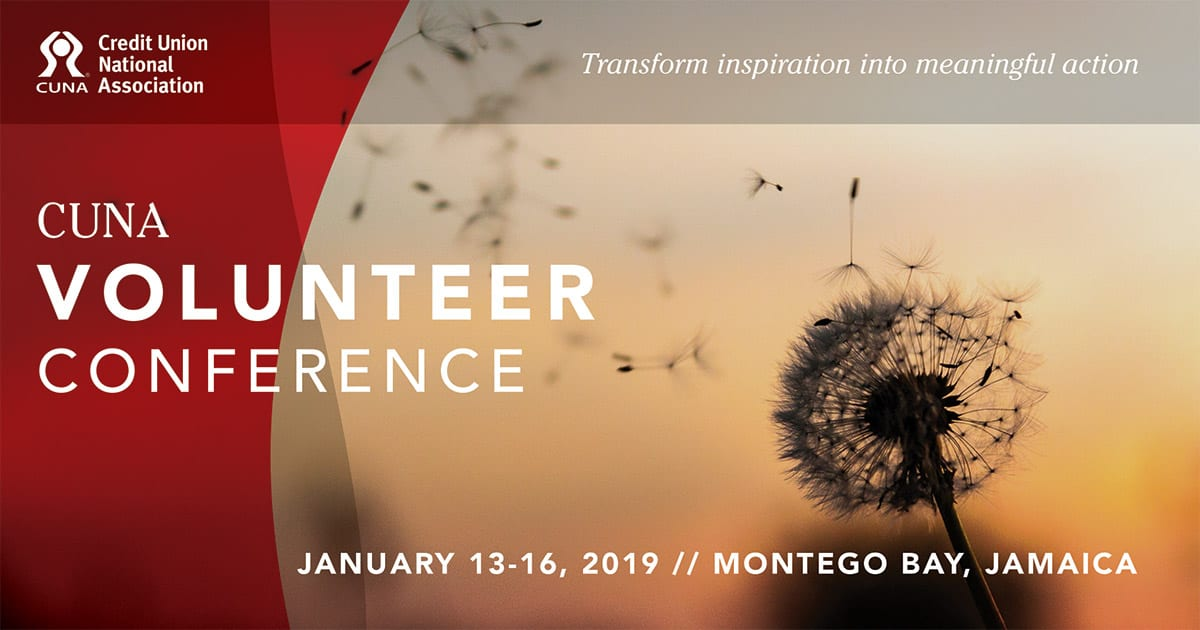 CUNA Volunteer Conference January 13-16, 2019 in Montego Bay, Jamaica